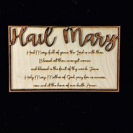Hail Mary Plaque - Glowforge