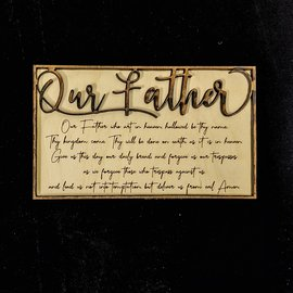 Our Father Prayer - Laser etched