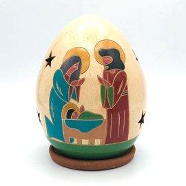 Holy Family Nativity - Ceramic Lantern