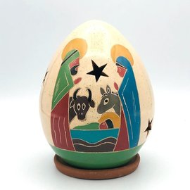 Nativity with Animals - Ceramic Lantern