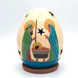 Holy Family with Staff - Ceramic Lantern
