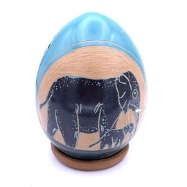 Elephant Mother & Child- Ceramic Lantern