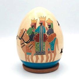 Three Kings on Camels - Ceramic Lantern