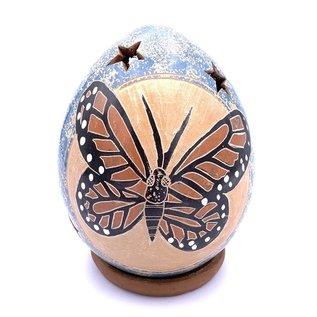 Monarch Butterfly - Ceramic Lantern