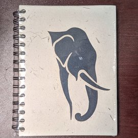 Ellie Pooh Journal - Black Elephant Profile