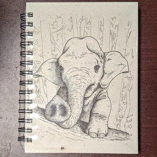 Ellie Pooh Journal - Baby Elephant Sketch