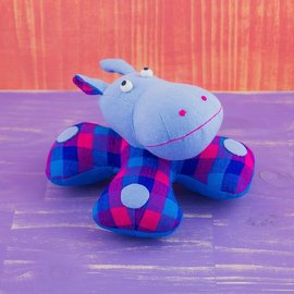 Patchwork Doll - Hippo Rattle