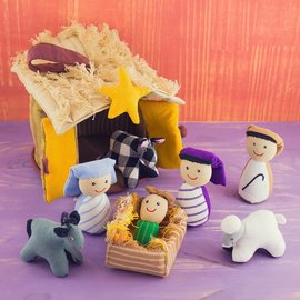 Patchwork Doll - Nativity Scene