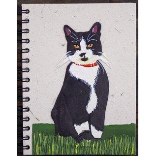 Ellie Pooh Journal - Tuxedo Cat