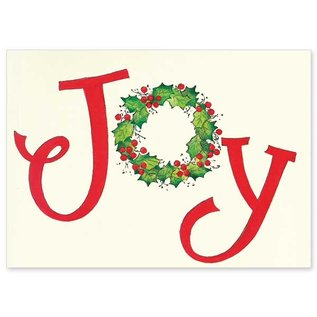 Package  Christmas Cards - Joy Wreath