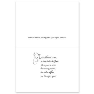 Christmas Cards - Silver Peace with Dove on Blue