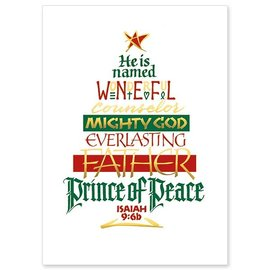 Package  Christmas Cards - He Is Named Wonderful Counselor, Mighty God