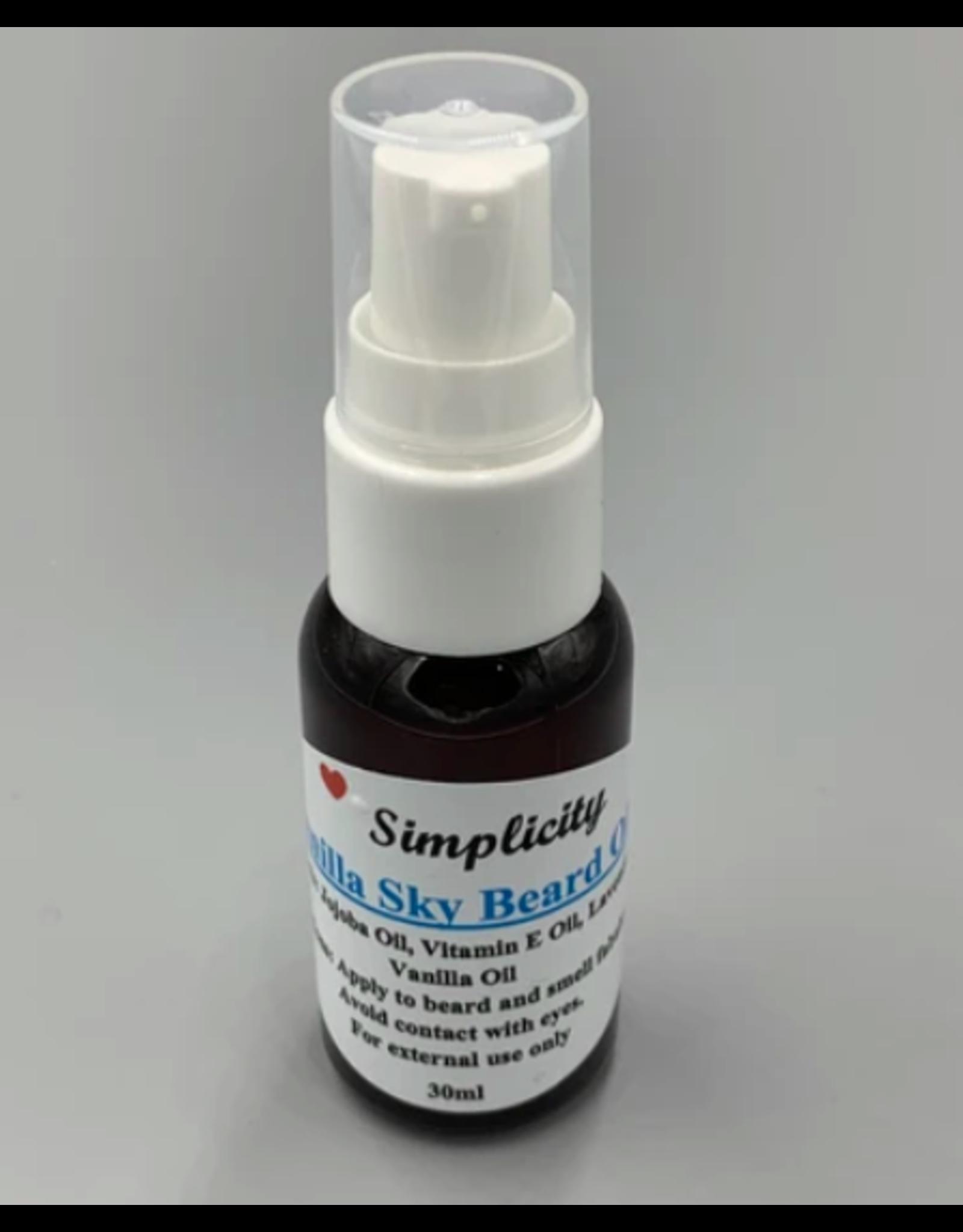 Vanilla Beard Oil (Simplicity)