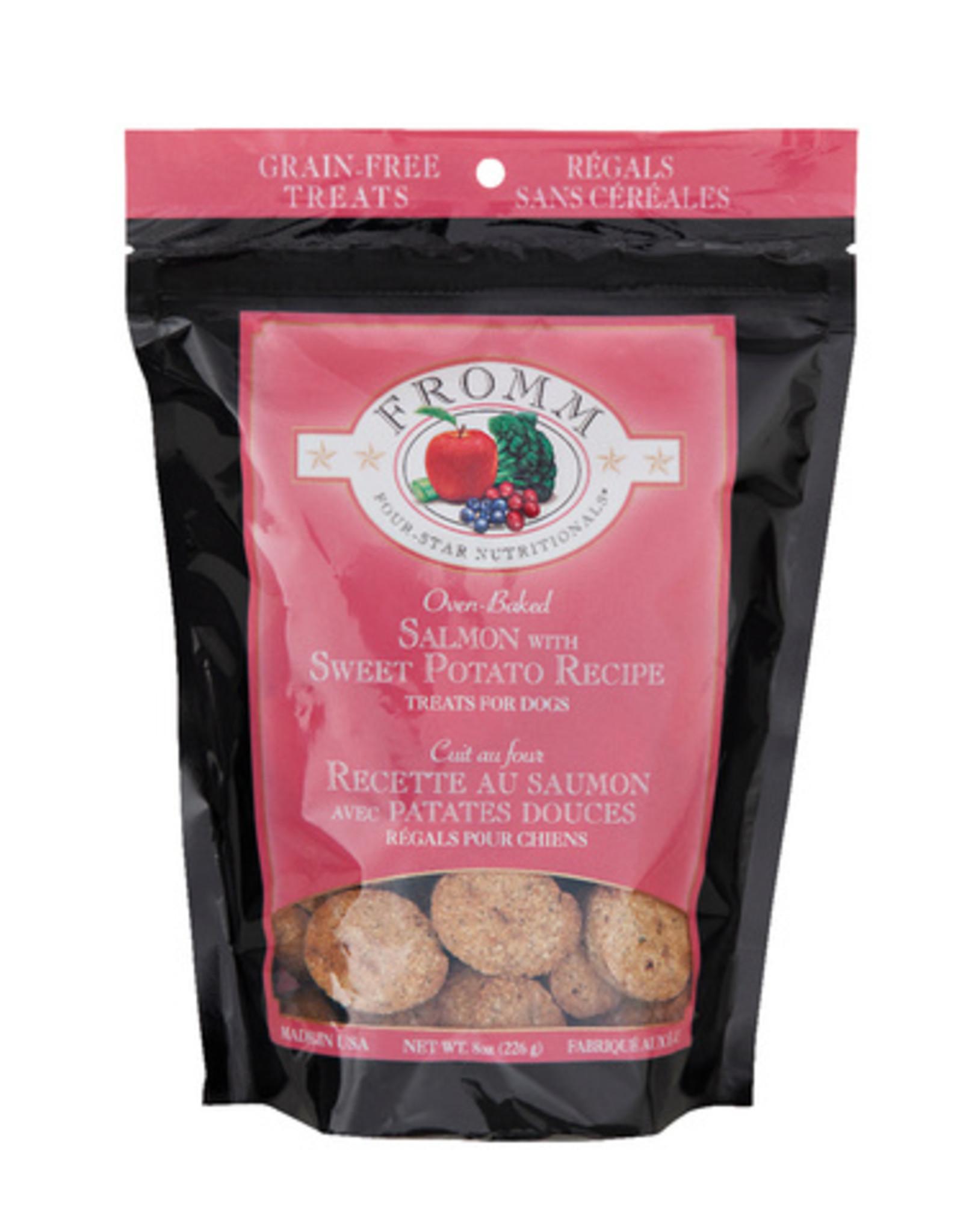FROMM FAMILY FOODS LLC FROMM SALMON W/SWEET POTATO TREAT, 8 OZ. POUCH GRAIN-FREE