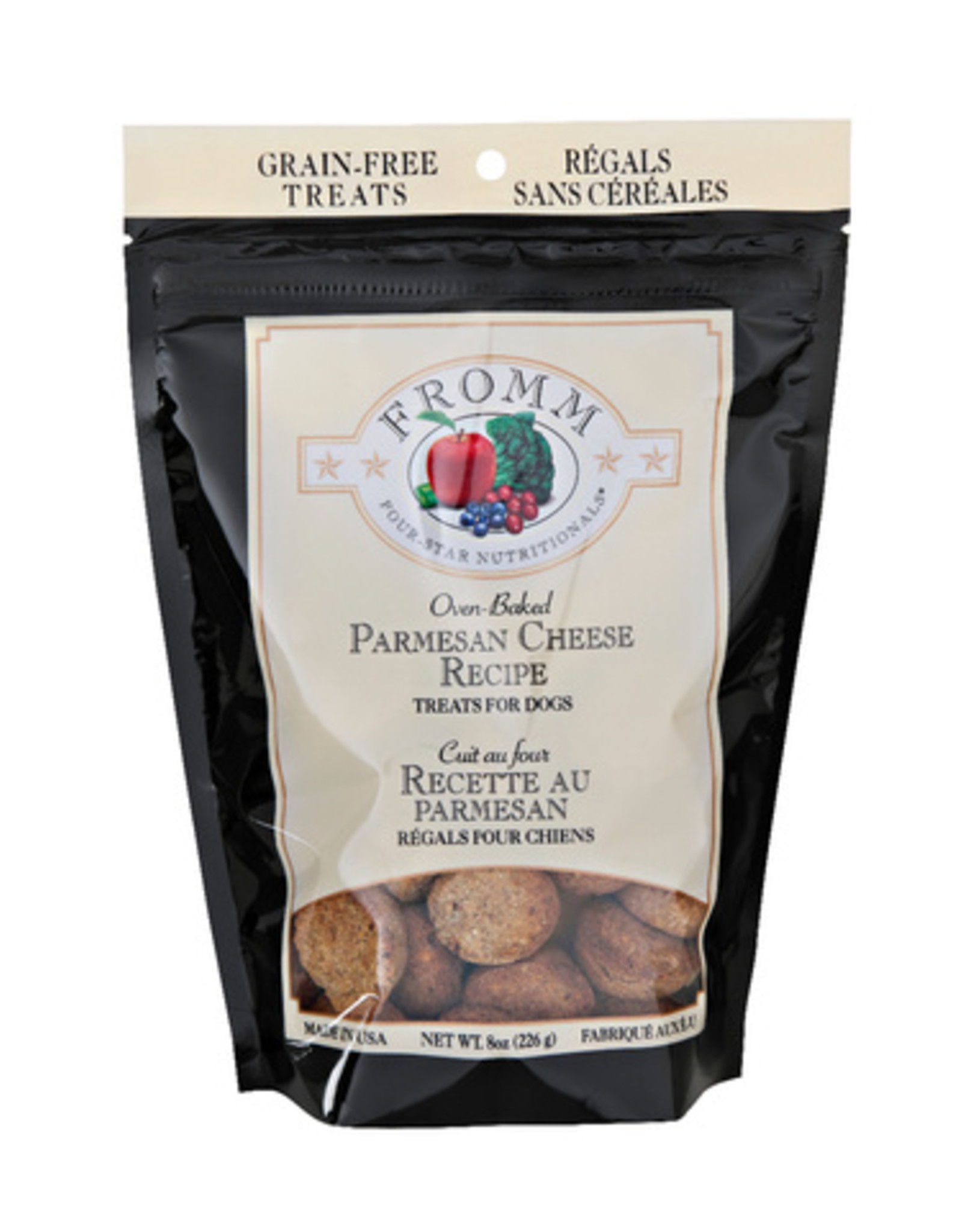 FROMM FAMILY FOODS LLC FROMM PARMESAN CHEESE TREATS, 8 OZ. POUCH GRAIN-FREE