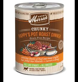 Merrick Pet Foods MERRICK CHUNKY PAPPYS POT ROAST, 12.7 oz.