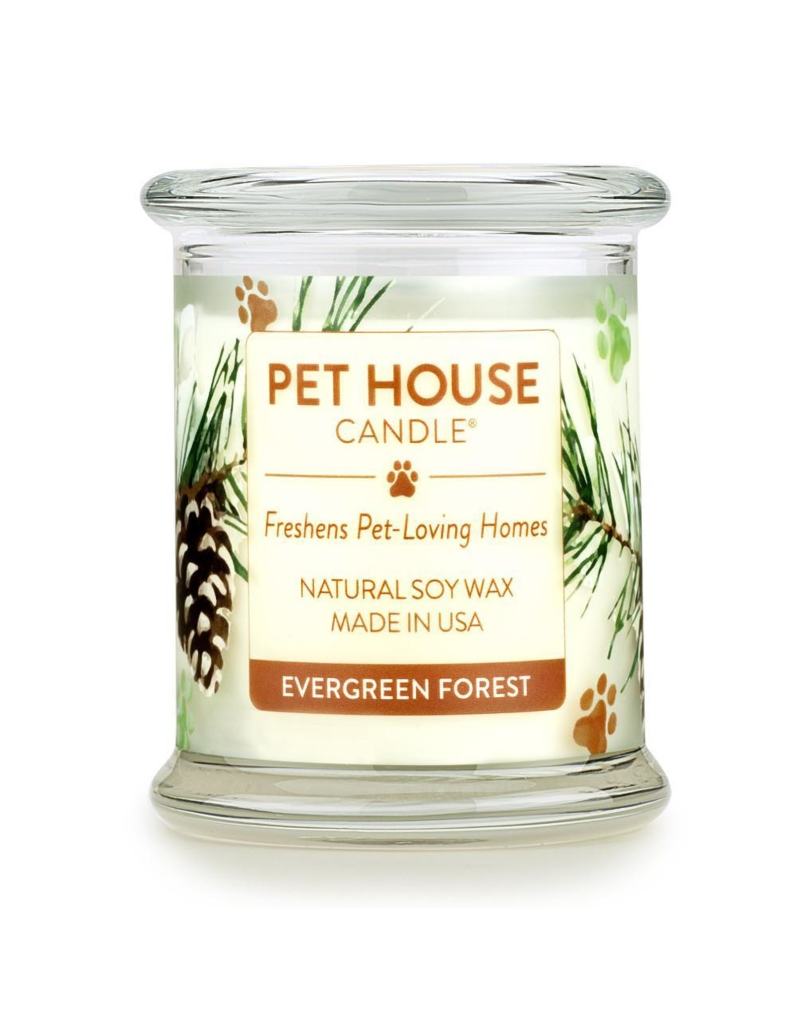 One Fur All Large Candles Evergreen 8.5oz