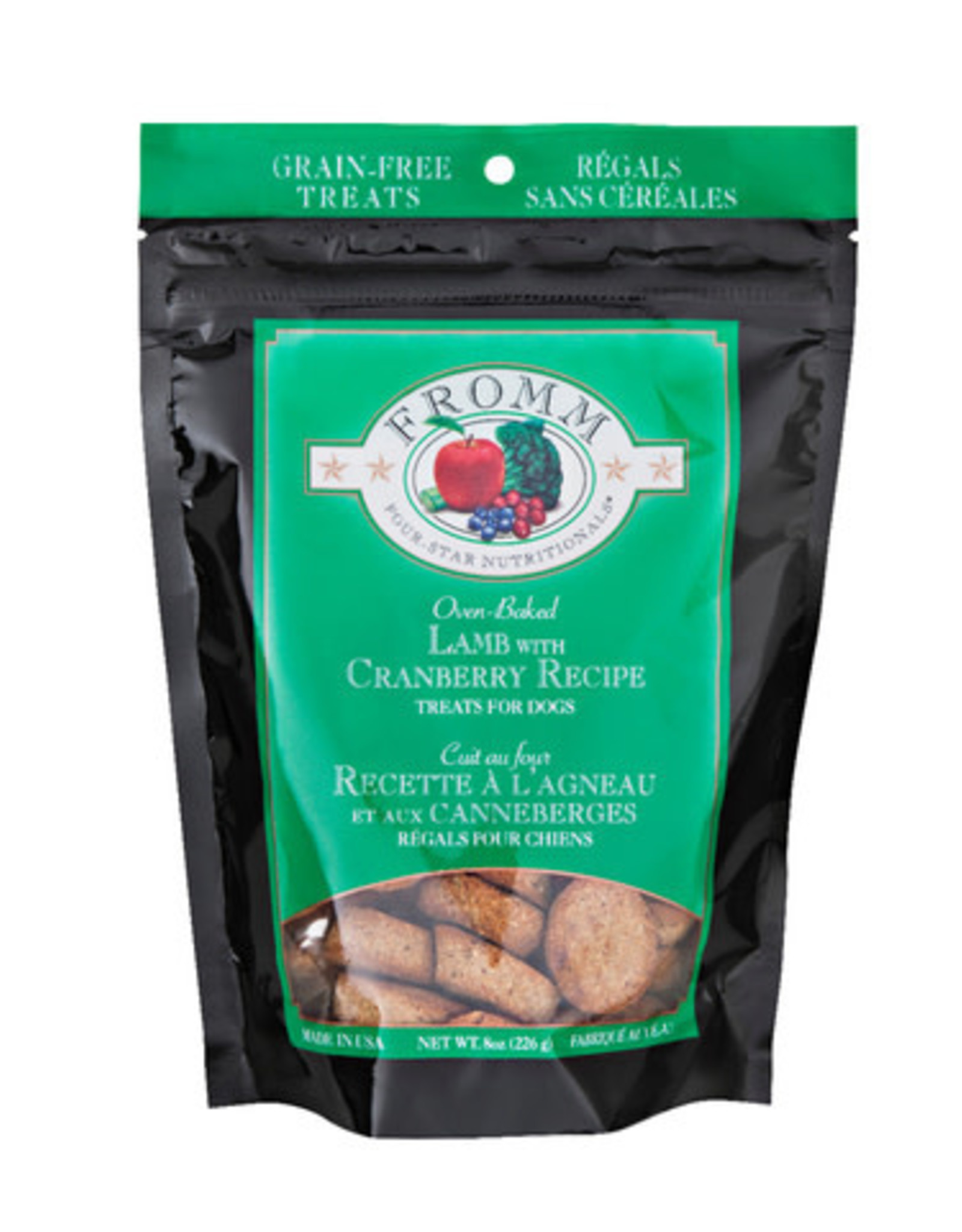 FROMM LAMB WITH CRANBERRY TREATS, 8 OZ. POUCH GRAIN-FREE