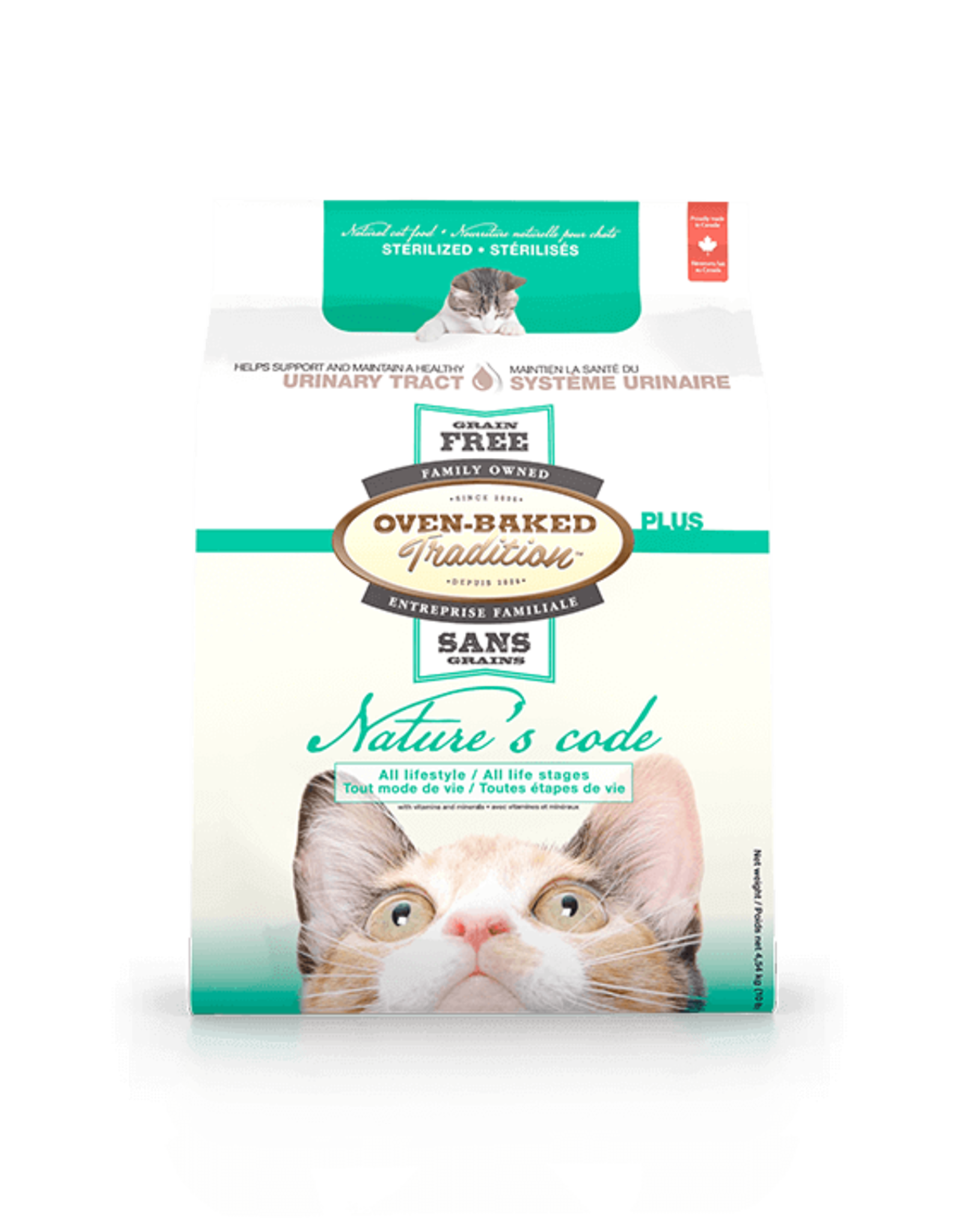 Oven Baked Tradition Oven Baked Tradition Natures Code Cat Urinary Food 2.5lbs