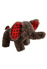 """SNUGAROOZ SNUGAROOZ Eli the Elephant Buffalo Check Plush Dog Toy 10"""""""