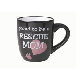 PetRageous Petrageous \ Lucky Paws \ Proud to be a Rescue Mom Mug 18oz