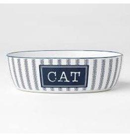 """PetRageous Country Blue Cat Bowl 7"""" (2 cups)"""