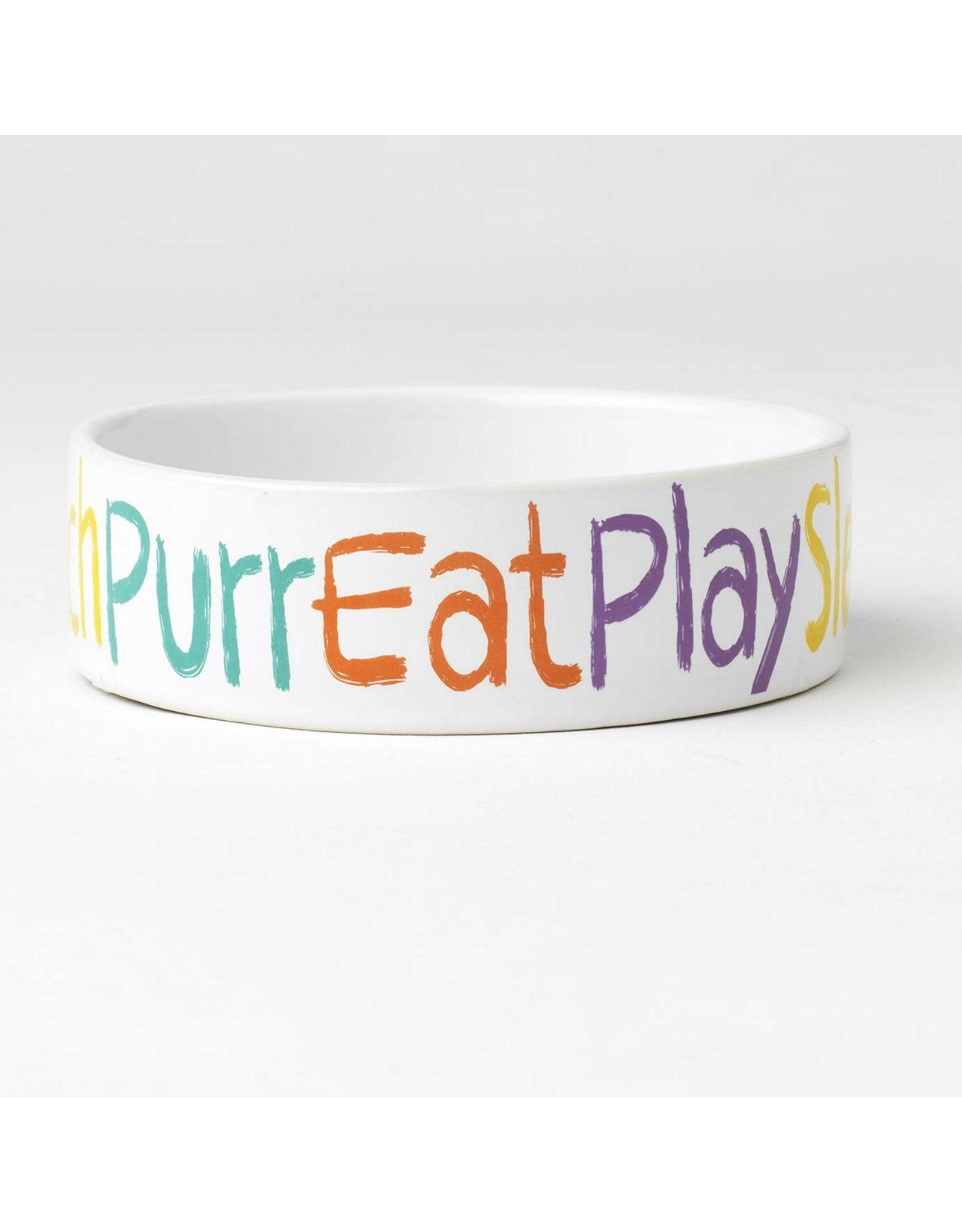 "PetRageous Crayon Kitty 5"" - Purr.Eat.Sleep. Bowl"