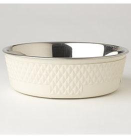 """PetRageous Kona Bowl Antique White 6.75"""" (3.75cups)"""
