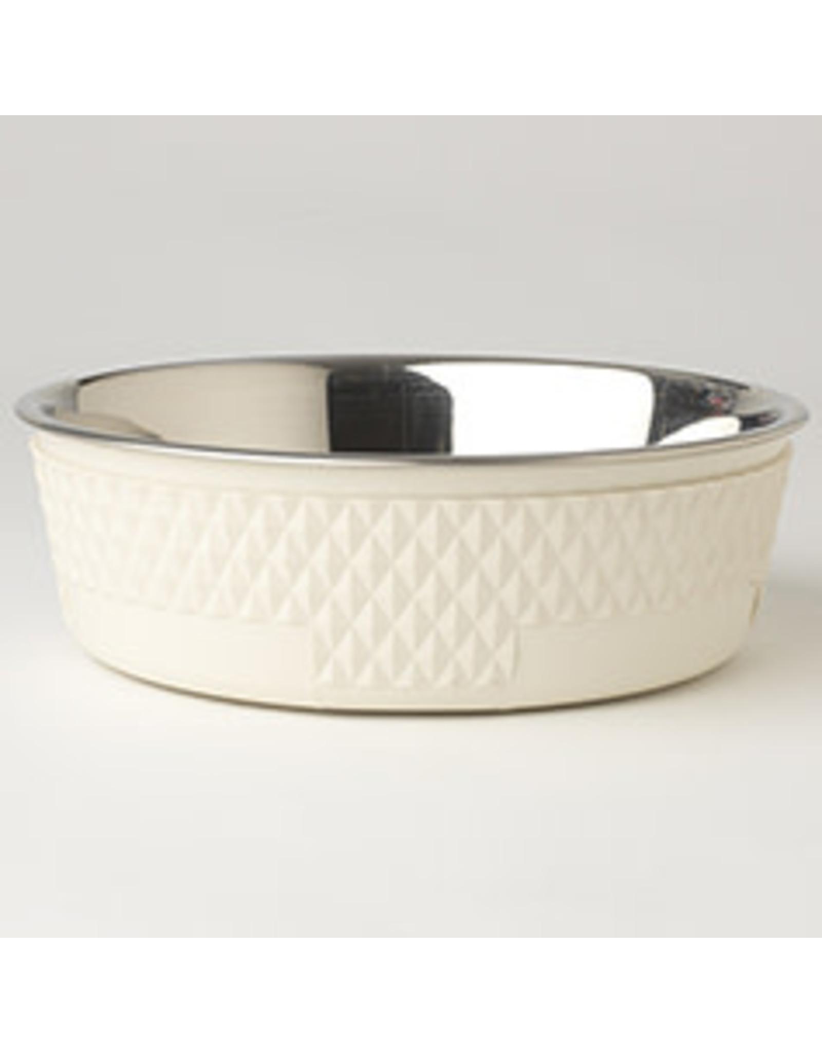 """PetRageous Kona Bowl Antique White 8.5"""" (6.5cups)"""