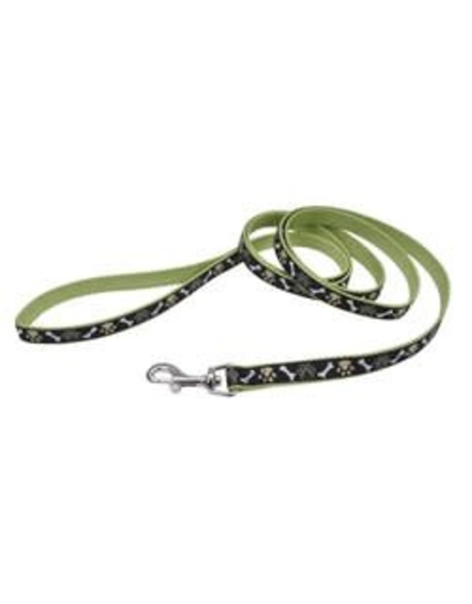 Coastal Coastal Ribbon Dog Leash - 5/8in x 6ft Brown Paws & Bones
