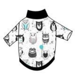 Ruff-Stitched Funny Owls Sweater