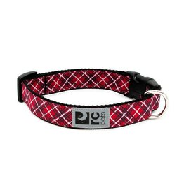 RC Pets Clip Collar - Red Tartan