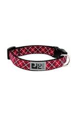 RC Pets Clip Collar - Red Tartan