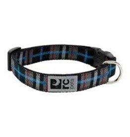 RC Pets Clip Collar - Black Twill Plaid