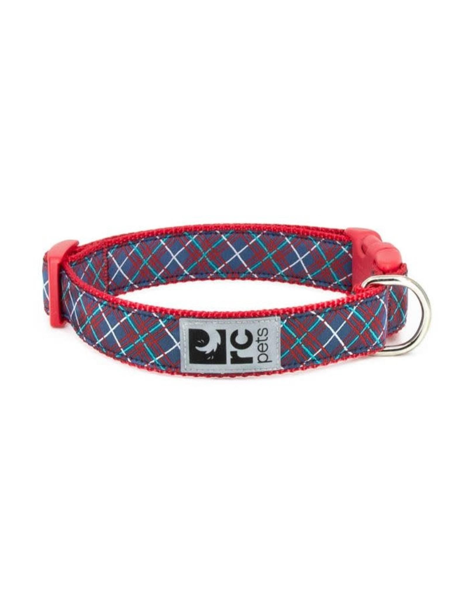 RC Pets Clip Collar - Navy Tartan