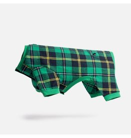 Silver Paw Green Flannel Matching PJs -DOG