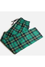 Silver Paw Green Flannel Matching PJs - HUMAN