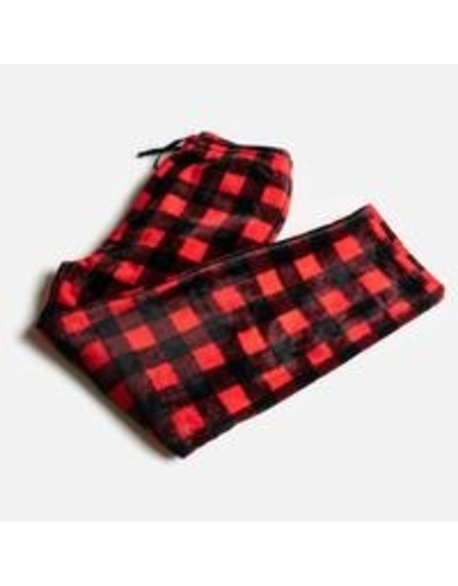 Silver Paw Red Plaid Matching PJs - Human