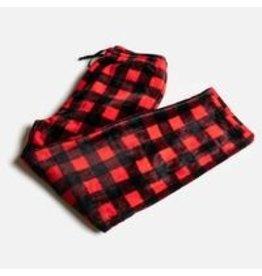 Silver Paw Red Plaid Matching PJs - Human