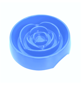 Messy Mutts Interactive Slow Feeder - Blue