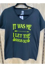 CocoMutts It Was Me I Let The Dogs Out - Women's V-Neck T-Shirt