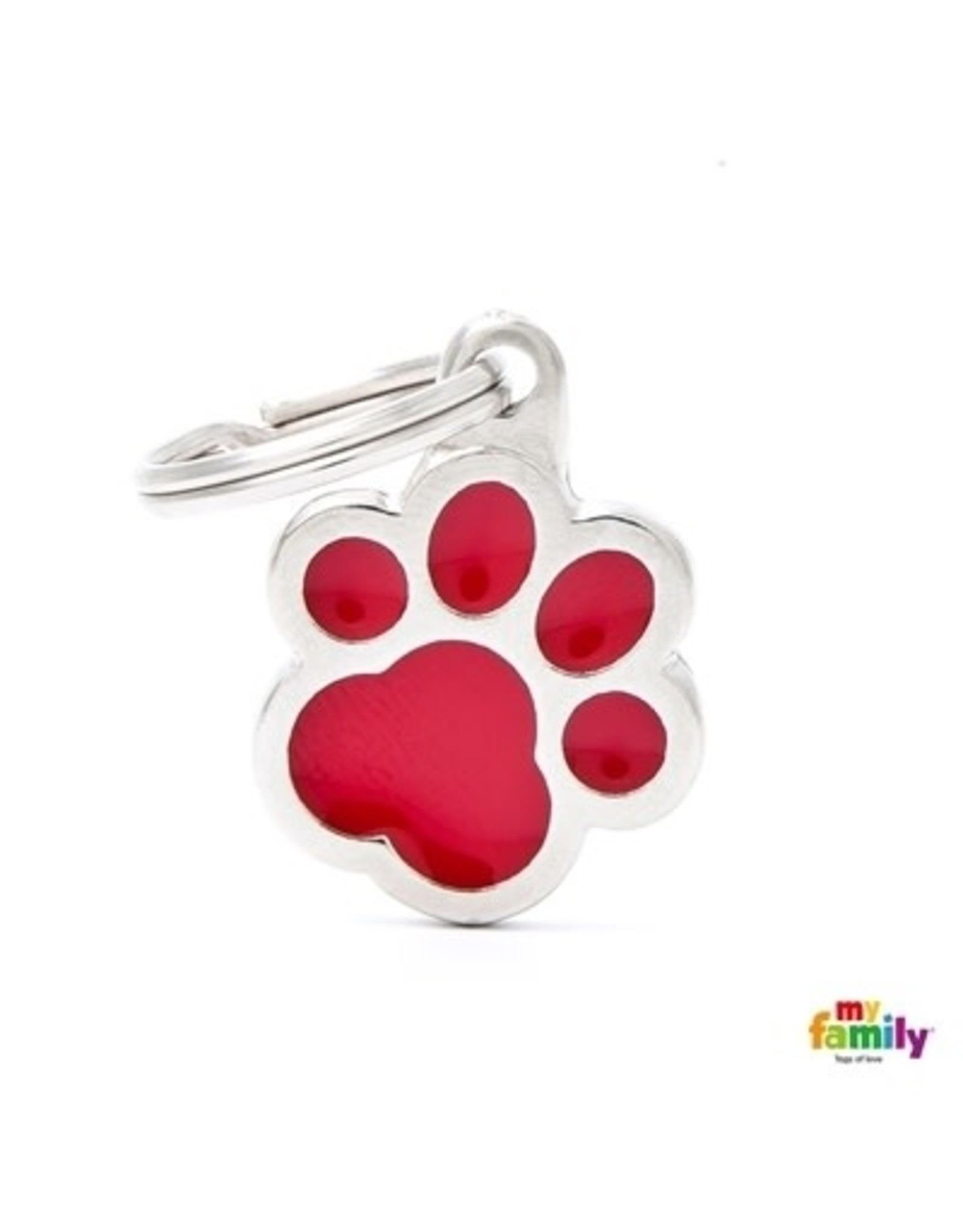 MyFamily Tag - Red Pawprint