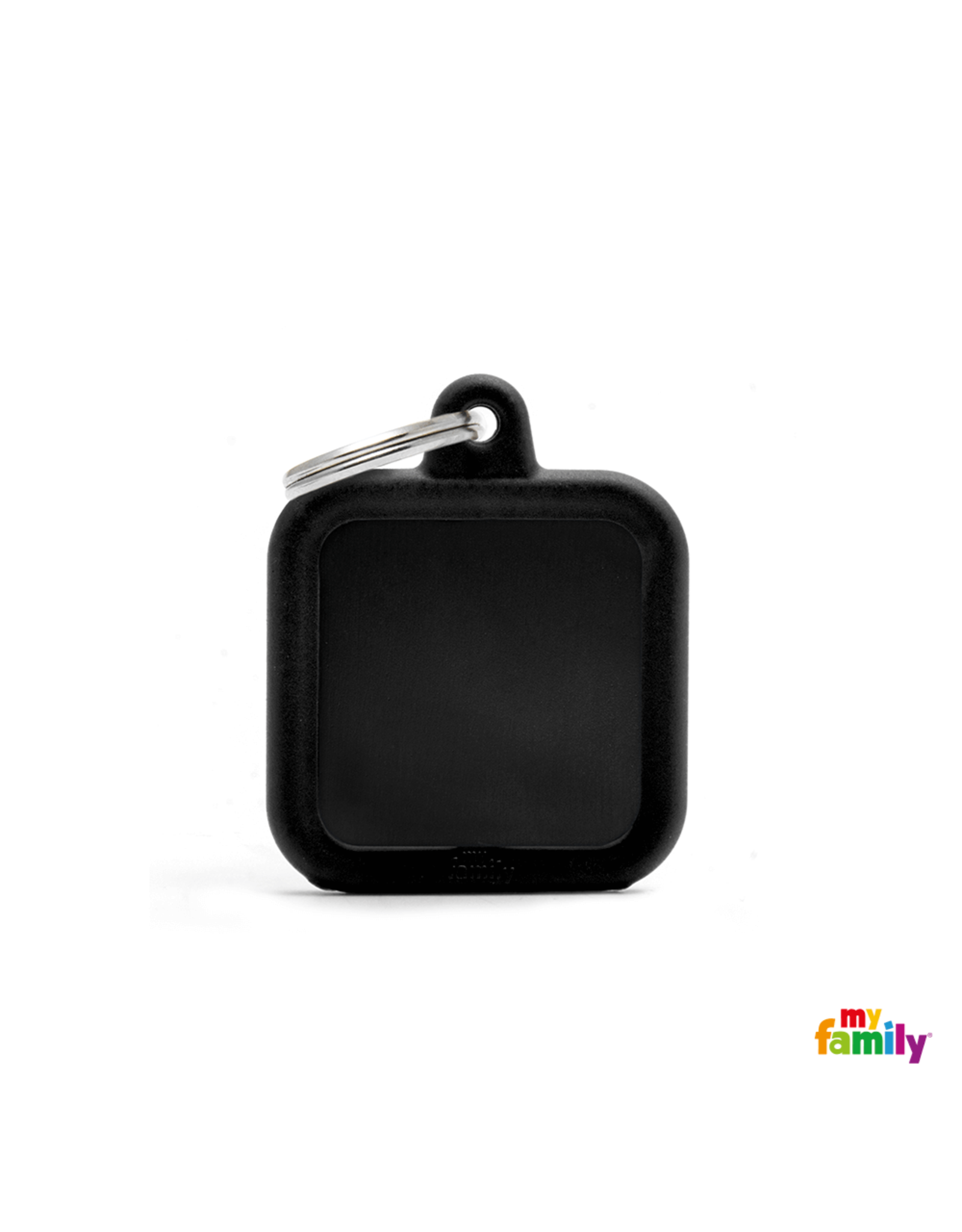 MyFamily Tag - Square Black Rubber