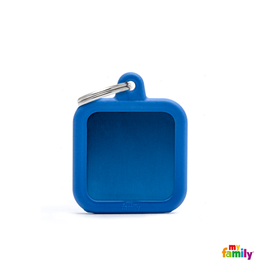 MyFamily Tag - Square Blue Rubber