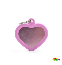 MyFamily Tag - Pink Heart Rubber