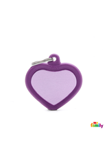 MyFamily Tag - Purple Heart Rubber