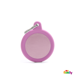 MyFamily Tag - Pink Circle Rubber