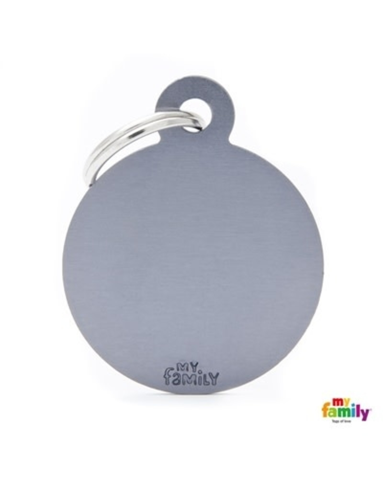 MyFamily Tag - Round Aluminium Grey