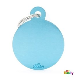 MyFamily Tag - Round Light Blue