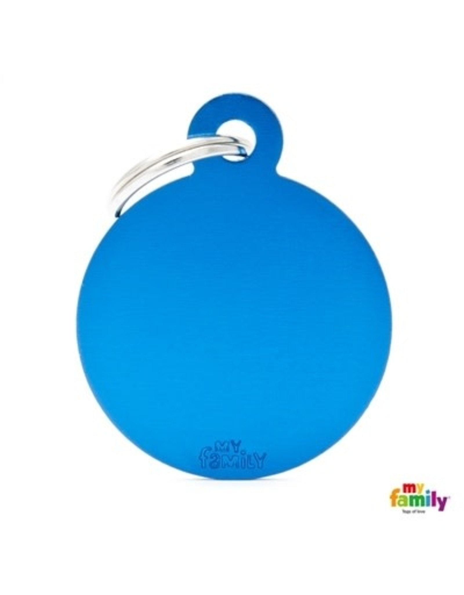 MyFamily Tag - Round Blue
